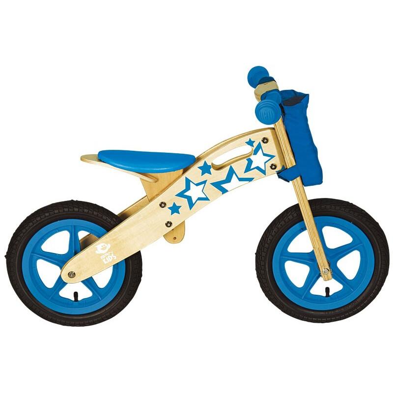 Bici bimbo senza pedali balance bike in legno naturale BRN Star