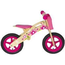 Bici bimba senza pedali balance bike in legno naturale BRN Flower